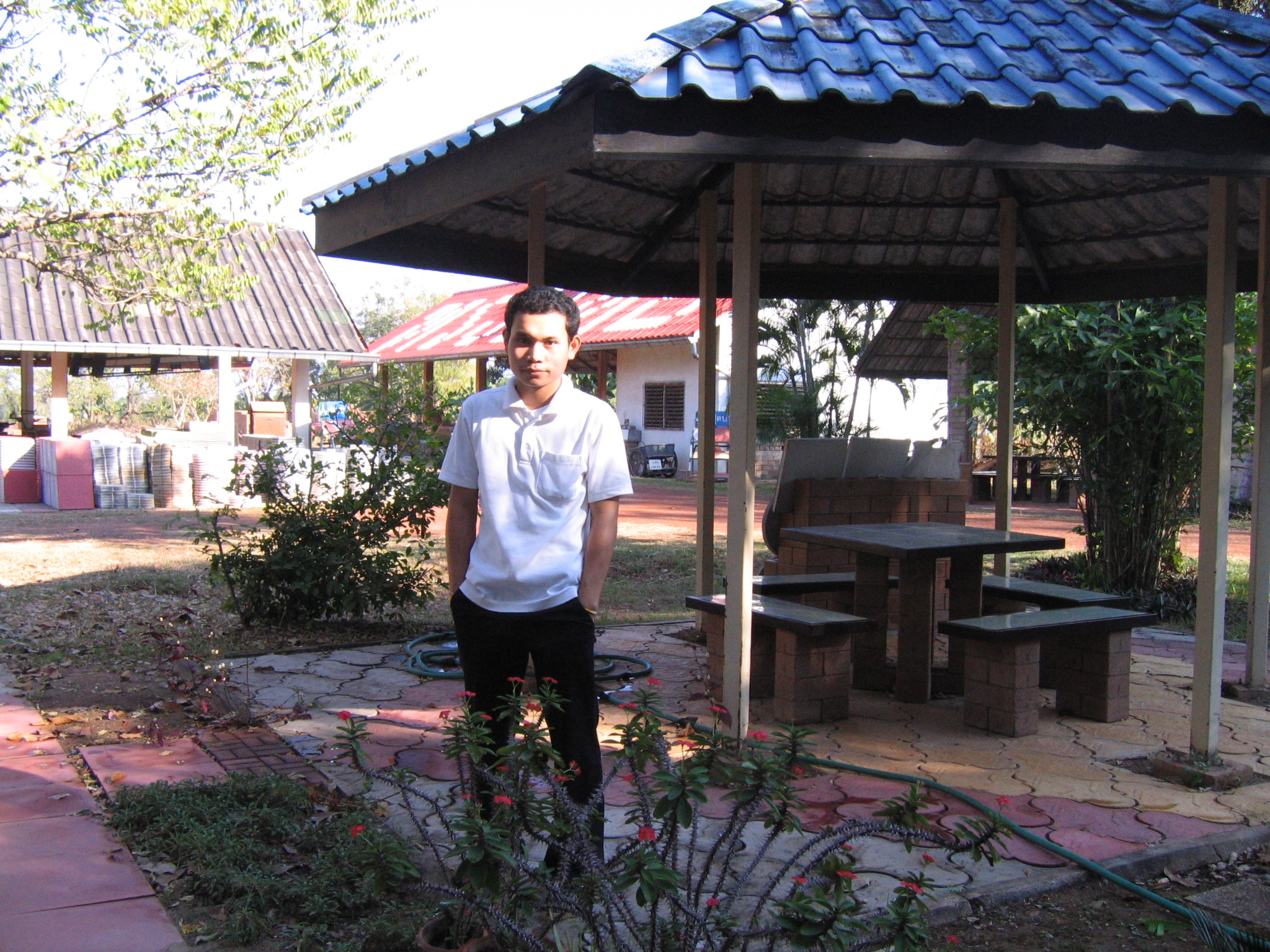 CVBT Gazebo with Anucha, an intern.